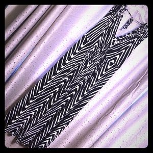 Avenue Black and White Dress
